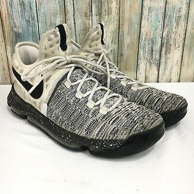 85a43371e0a Nike Zoom KD Kevin Durant 9 Mens 11.5 White Black Flyknit Oreo Shoes 843392