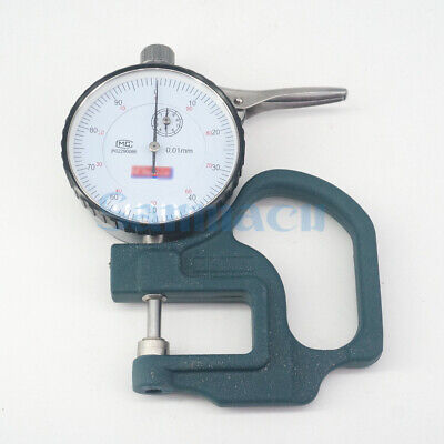 Dial Thickness Gauge 0-10mm 0.01mm Leather Paper Measuring Instrument Tester A9