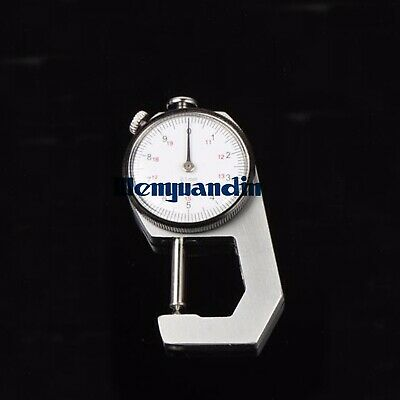 Dial Pipe Thickness Gauge 0-10/20mm 0.1mm Pointed Head Thickness Meter