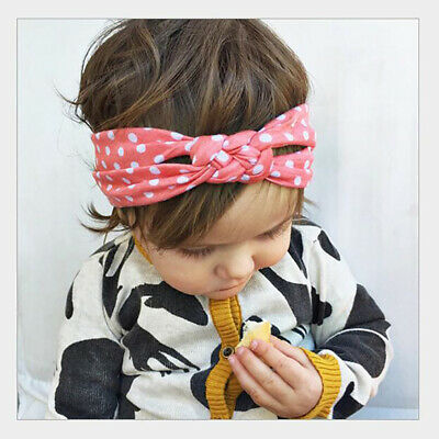 Girls Dot Knot Lovely Headband Twisted Head Wraps Headband Hair Accessories Z