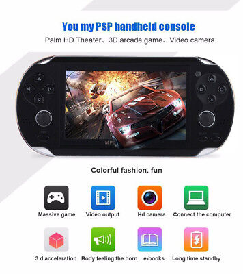4.3'' 8GB 32Bit 1000 Games Handheld MP5 Video Game Console Portable Player Black