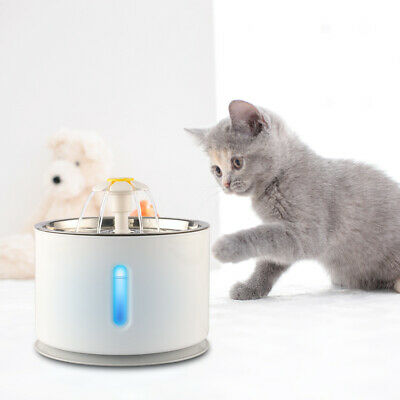 2.4L Stainless Steel Dog Cat Fountain Water Dispenser Drinking Water Fountain