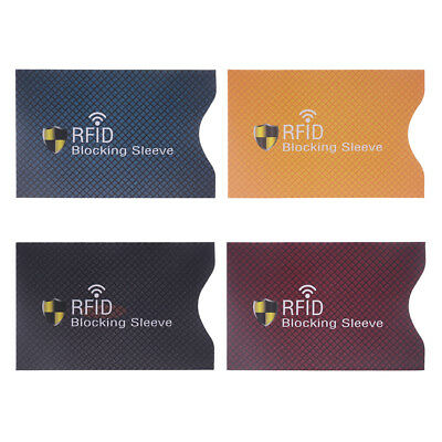1PC Anti Theft for RFID Credit Card Protector Blocking Sleeve Skin Case
