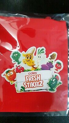 1 Brand New Coles Stikeez pouch bag Sealed