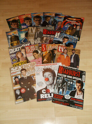 DAVID TENNANT Magazine Collection - Doctor Who Broadchurch - 18 in Total