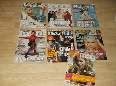 BILLIE PIPER Magazine Collection - Doctor Who  - 7 Magazines