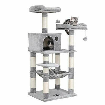 58 MultiLevel Cat Tree with SisalCovered Scratching Posts PlusPerches Hammock