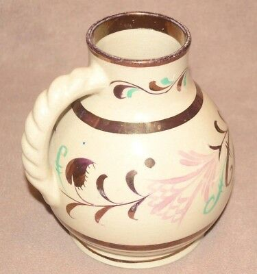 Gray's Pottery medium size Jug hand painted gloss floral design 18 cm high
