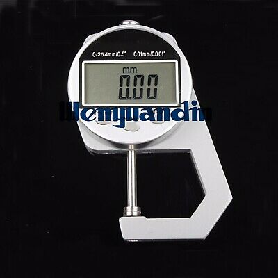 0-25mm/0.01mm Digital Thickness Guage Cloth Leather Thickness Tester A27