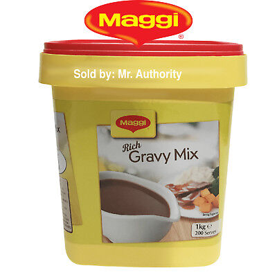 2x 1KG RICH GRAVY MIX 2KG BY MAGGI - LONG EXPIRY JUNE 2019 (SECURELY PACKED)