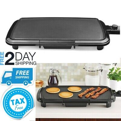 Electric Griddle Non Stick Flat top Grill Indoor Small Countertop Portable Large