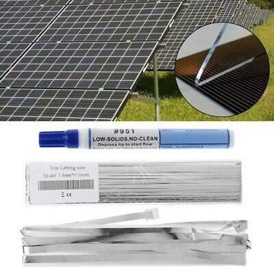 Solar Panel PV Welding Tab 10M Tabbing Wire +2M Bus Wire Ribbon +Flux Pen Kits
