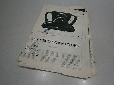 ART DECO DOWN UNDER by MARJORIE GRAHAM - PHOTOCOPY OF 6 PAGES - SOME DAMAGE