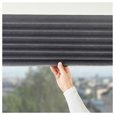 Brand New IKEA: Roller Blackout Day Night Sun Screen Pleated Window Blind Black