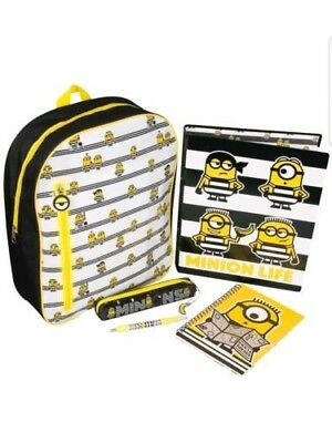 Despicable Me 3 Minions Filled Backpack Set Binder Notepad Pen/gift/new/school