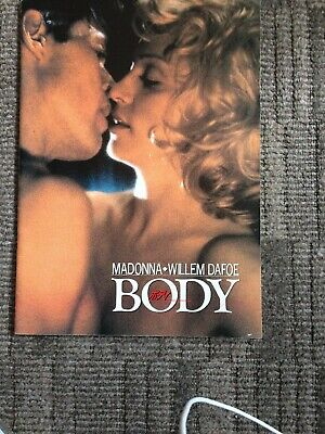 Madonna Rare Japanese Cinema/press Book Body Of Evidence 24 Pages