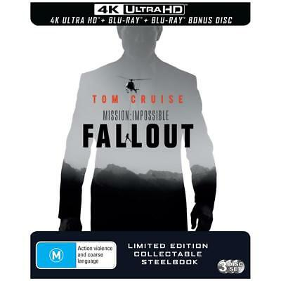 NEW Mission Impossible Fallout Steelbook 4K Ultra HD Blu-ray
