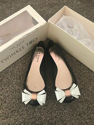 fad941363 TED BAKER TWINKLE Toes Jelly Pump Flat Bow Shoes Size 5  38 - £11.50 ...