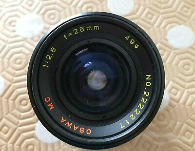 Osawa 1:2.8 28mm Prime wide angle lens for Canon FD mount - VGC