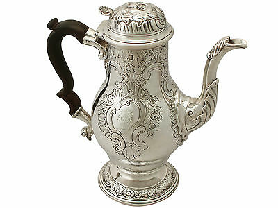 Antique Sterling Silver Coffee Pot George II London 1743