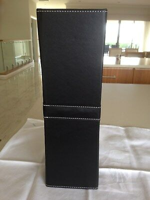 BLACK WINE GIFT BOX Presntable Wine Holder Carrier Nearly New