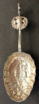 Rare 1893 British Sterling Silver Spoon by Louis Landsberg