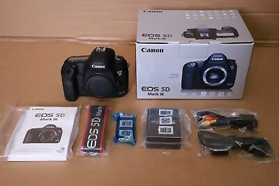 Canon EOS 5D Mark III 22.3MP Digital SLR Camera (Body Only). Only 34 shutters.