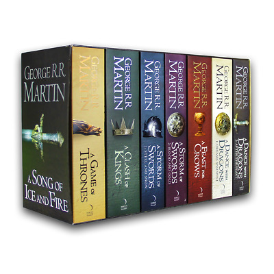 NEW George R.R. Martin: A Game of Thrones Song of Ice and Fire 7 Volume Book Set