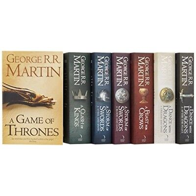A Game of Thrones Song of Ice and Fire 7 Volume Books Set by George  Martin