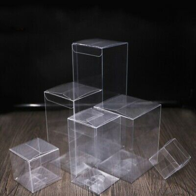 20 x Clear PVC Boxes with Protective Film Gift Biscuit Candy Cake Package Box