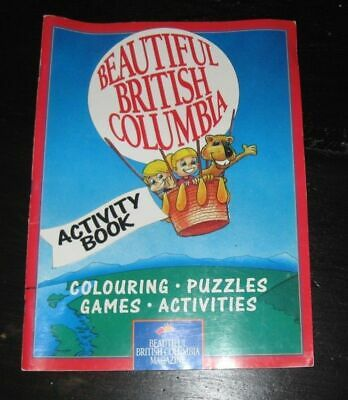 1992 used Beautiful British Columbia magazine Activity BOOK colouring GAMES Puzz