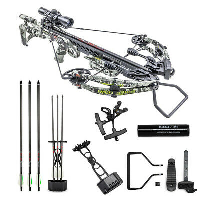 Killer Instinct Ripper 415 FPS Crossbow Kit, Camo, w. IR Scope & 3 Carbon Bolts