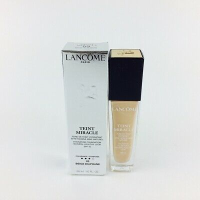 Lancome Teint Miracle Hydrating Foundation Makeup 03 Beige Diaphane 30ml Nuevo