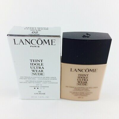 Lancome Teint Idole Ultra Wear Nude Light Coverage Foundation Makeup 02 Lys R...