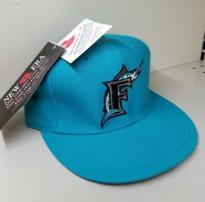 6af283fd938462 New Era SIZE 6 5/8 Florida MIAMI Marlins Fitted 5950 OG MLB CAP Baseball