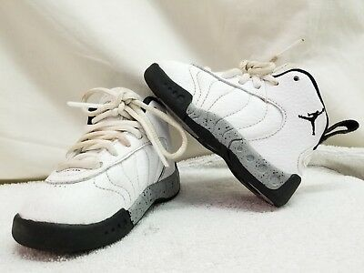d4a386a119cb EUC Nike Air Jordan Leather Jumpman Pro White Sneaker 909418-103 Toddler 5C