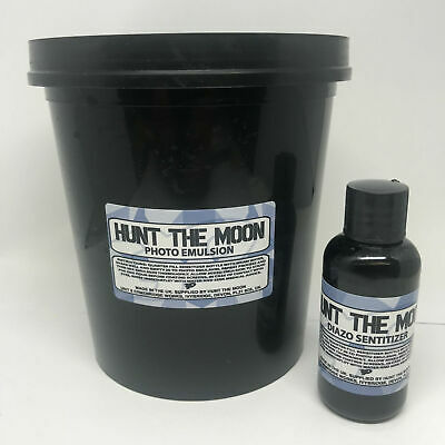 Hunt The Moon Screen Printing Diazo Photo Emulsion Set - Choose Size! 250ml 1LTR
