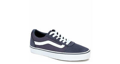 90b54ce886c1 NEW - VANS Women s  WARD LO  Pale Blue   White CANVAS   SUEDE LO TOP ...