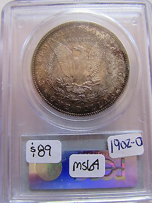 1902 O Morgan Silver Dollar PCGS MS64 New Orleans Mint Color Toned $1 Coin