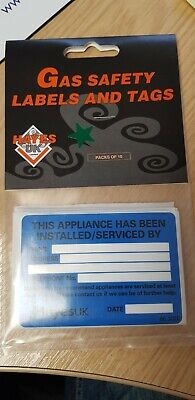 Hayes Gas Safety Appliance Labels