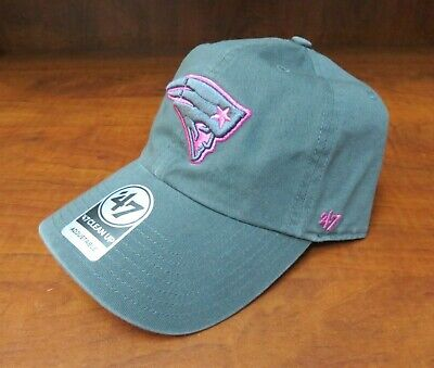 e4c0860a8f0  47 Brand Nfl New England Patriots Pink grey Logo Adjustable Clean Up Hat  Nwt