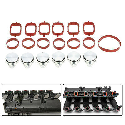 6 PCS 33mm Engine Inlet Valve Swirl Flap Modification Bungs with Gaskets