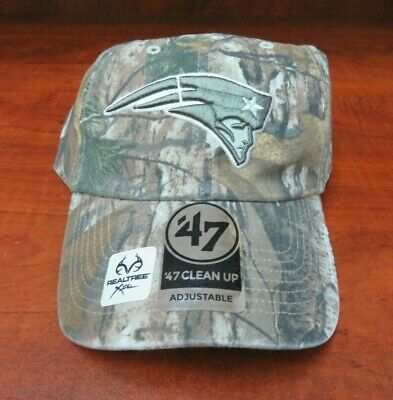 watch 84338 3cf70  47 Brand Nfl New England Patriots Real Tree Camo Adjustable Clean Up Hat  Nwt