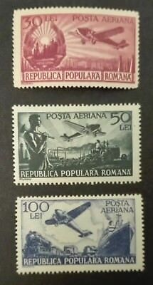 ROMANIA-RUMUNIA STAMPS MLH - Science and Transportation, 1948, *