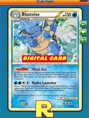 DIGITAL ptcgo in Game Card 4x -  for Pokemon TCG Online Blastoise Playset