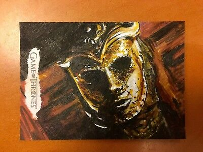 2017 GOT Valyrian Steel Sketch Card - 1/1 - Sons of the Harpy by Rich Kunz