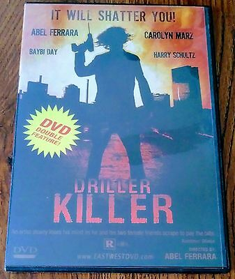 (Rare Out Of Print) Horror Dvd Double Feature Driller Killer & Drive In Massacre