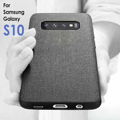 Ultra Slim Case Fabric Shockproof Bumper Cover For Samsung Galaxy S10 S9 Plus UK