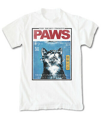 Riot Society Men's Short Sleeve T Shirts - Paws, White