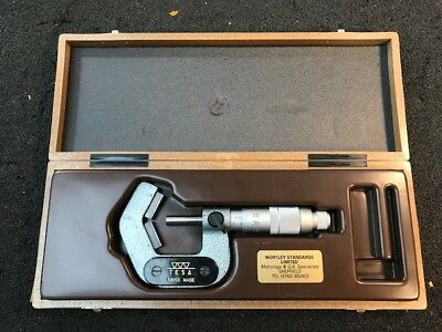 Tesa Swiss V Anvil Micrometer, 5 to 25mm 7 Dent Boxed